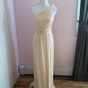 One shoulder strap dress